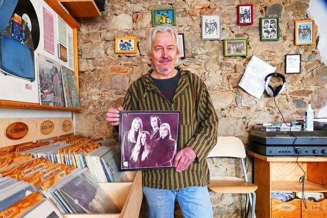 Vinyl ersetzt bei einem Freiburger Plattenhändler das Fotoalbum