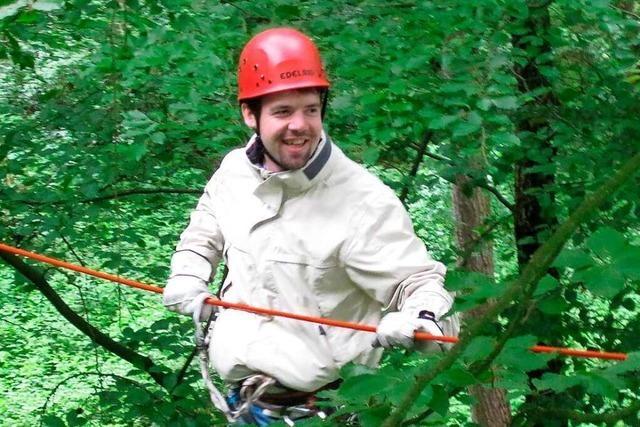 Im Klettergarten in Kenzingen gibt's eine Ladung Adrenalin