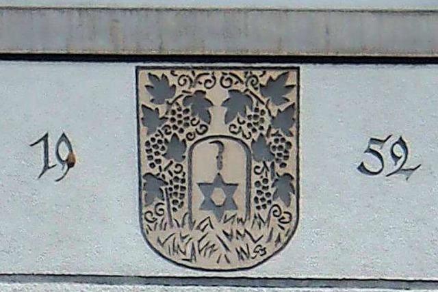 Das alte Grenzacher Wappen erinnerte an den Weinbau im Ort