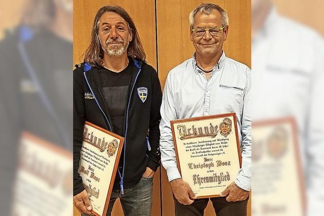 Narrenzunft kürt zwei weitere Ehrenmitglieder