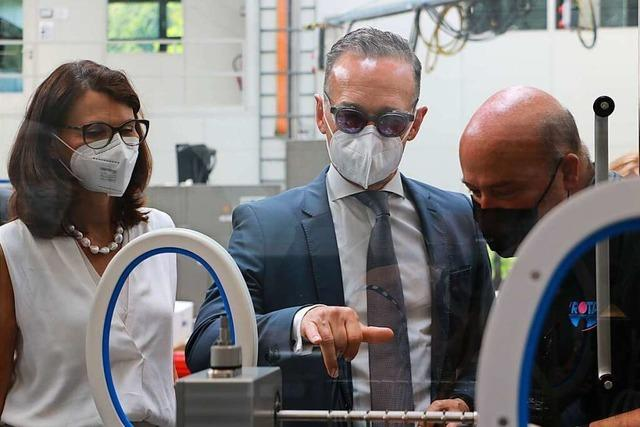 Bundesaußenminister Heiko Maas hat Rota Verpackungstechnik besucht