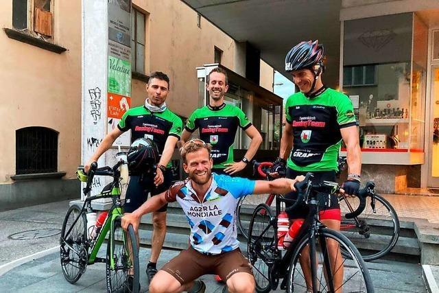 Thomas Spicker über seine 23-stündige Spenden-Radtour nach Genua
