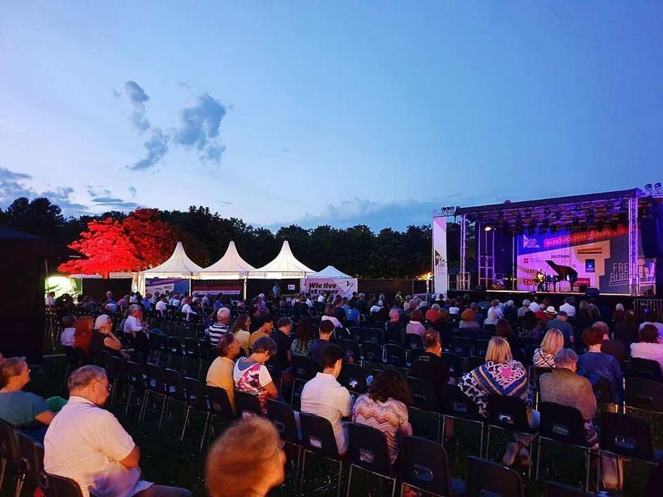 Sommernachtsstimmung beim Kultur_Los!-...z-Park – am Klavier: Igor Kamenz    Foto: Alexander Dick