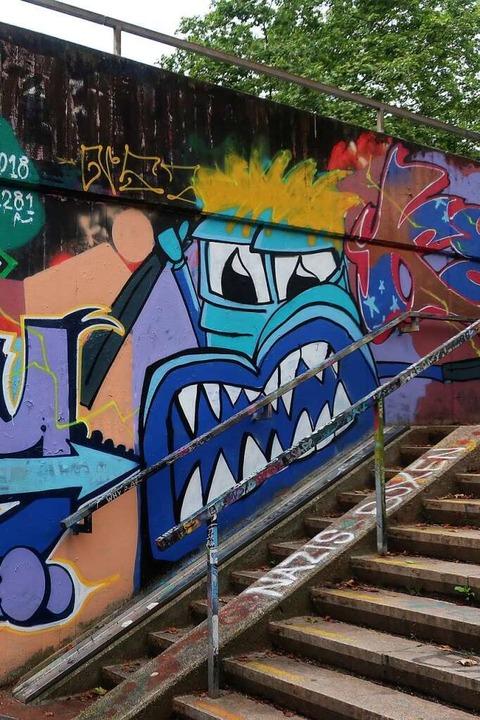 Gruseliges Graffiti-Monster    Foto: Lola Galli