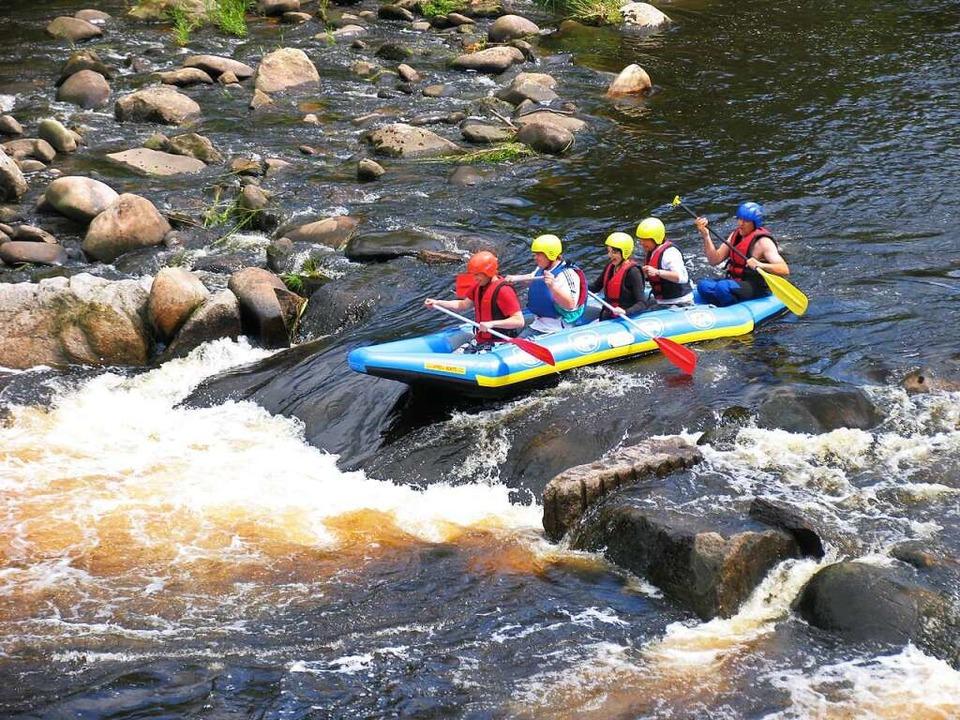 Wenn alle in einem Boot sitzen,  ist T...urg im Nordschwarzwald kann auch wild.    Foto: Reinhold Wagner