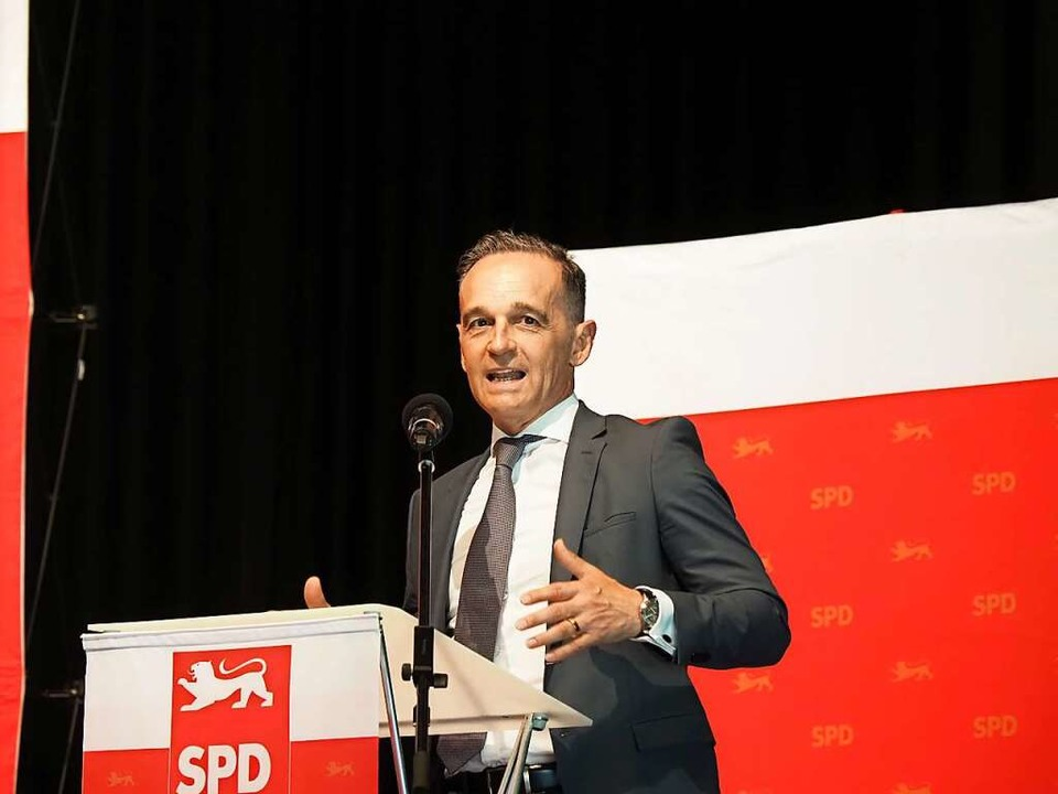 Außenminister Heiko Maas in Denzlingen  | Foto: Michael Haberer