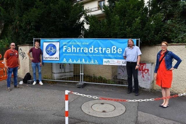Bauarbeiten von Lörrachs erster echten Fahrradstraße haben begonnen