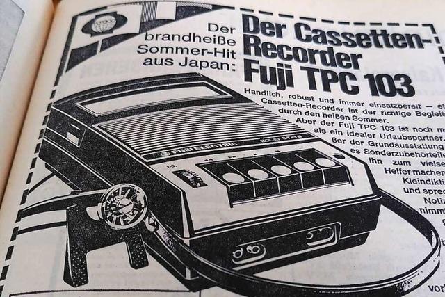 Ein Kassettenrekorder galt im Sommer 1971 als Hightech-Anschaffung