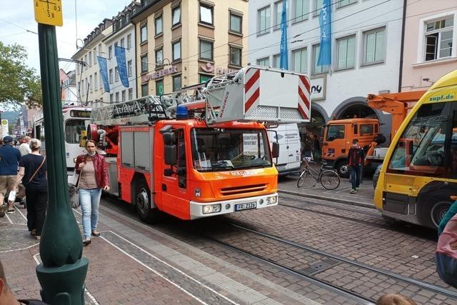 Rettungseinsatz in der Kaiser-Joseph-Straße störte Tramverkehr