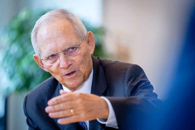 Bundestagspräsident Wolfgang Schäuble kommt nach Binzen