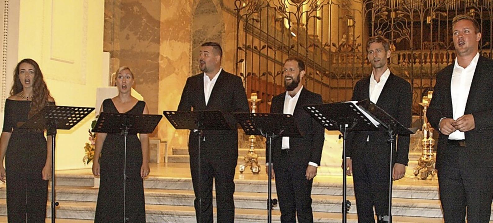 Mit einem dreiteiligen geistlichen Pro... Ingenium Ensemble im St. Blasier Dom.  | Foto: Karin Stöckl-Steinebrunner