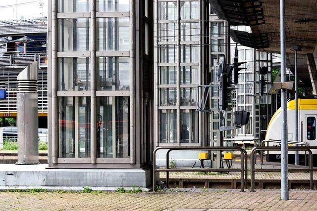Aufzug am Freiburger Hauptbahnhof fällt länger aus