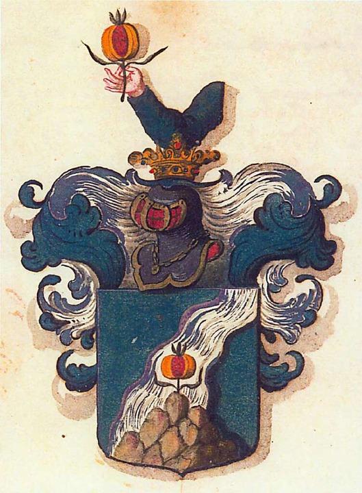 Das Wappen der Bohl von Montbach  <BZ-FotoNurRepro>Knur</BZ-FotoNurRepro>  | Foto: Wlter Knur