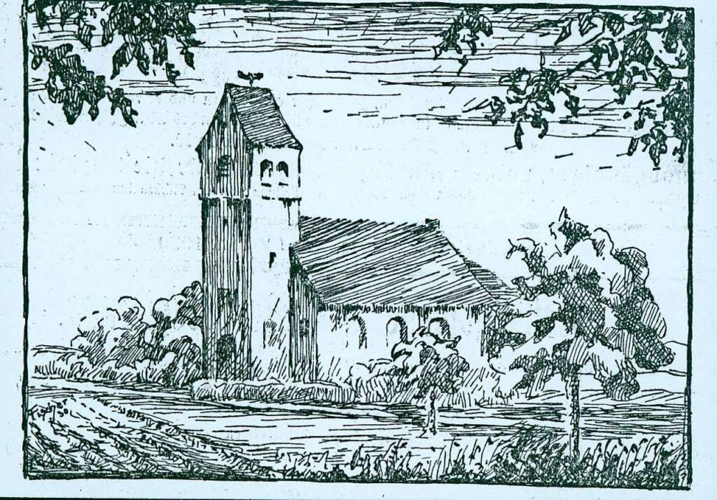 Diese Skizze der evangelischen Kirche ...NurRepro>Stadtarchiv</BZ-FotoNurRepro>  | Foto: Repro: Stadtarchiv Neuenburg am Rhein