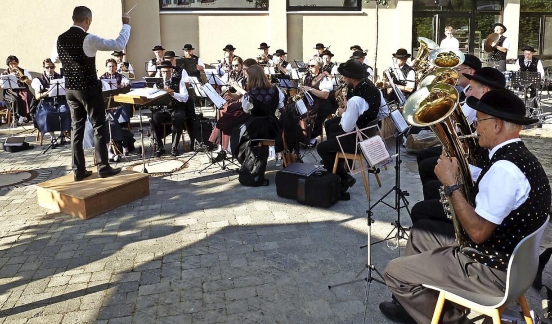 <BZ-FotoAnlauf>Trachtenkapelle Münster...oAnlauf> Das erste Konzert seit Langem    Foto: Eberhard Gross