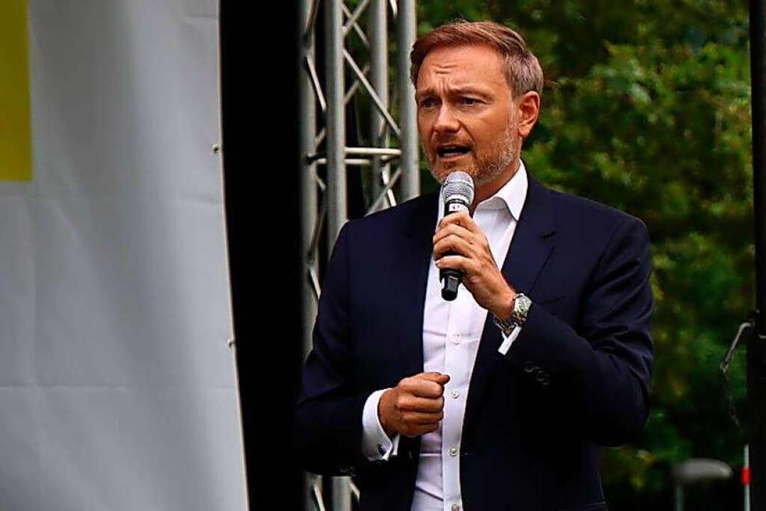 FDP-Chef Christian Lindner in Freiburg  | Foto: Joana Feucht