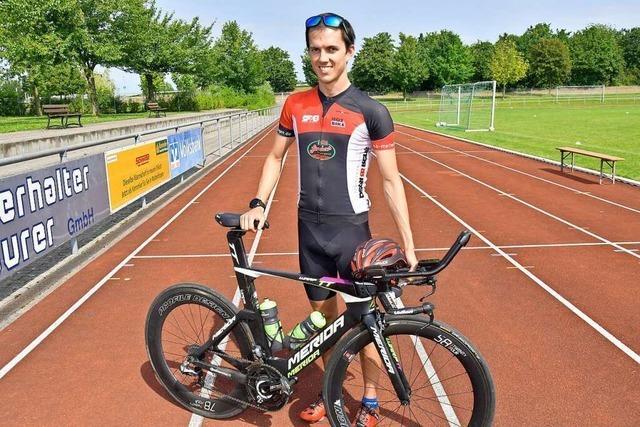 Beim Malterdinger Breisgau-Triathlon sind Start und Ziel ohne Zuschauer