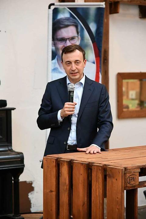 Paul Ziemiak sprach in Köndringen.    Foto: Benedikt Sommer