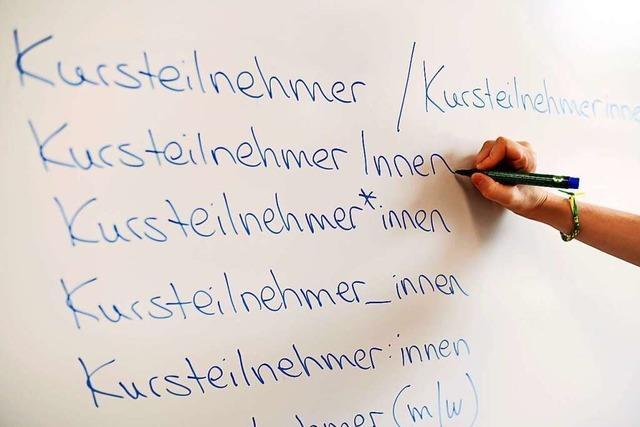 Universitäten im Land wollen geschlechtssensible Sprache einführen