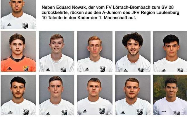 Zehn Junioren für die Erste des SV 08 Laufenburg