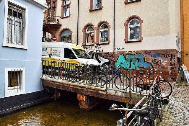 Gerberaubrücke in der Freiburger Altstadt wird bald monatelang gesperrt