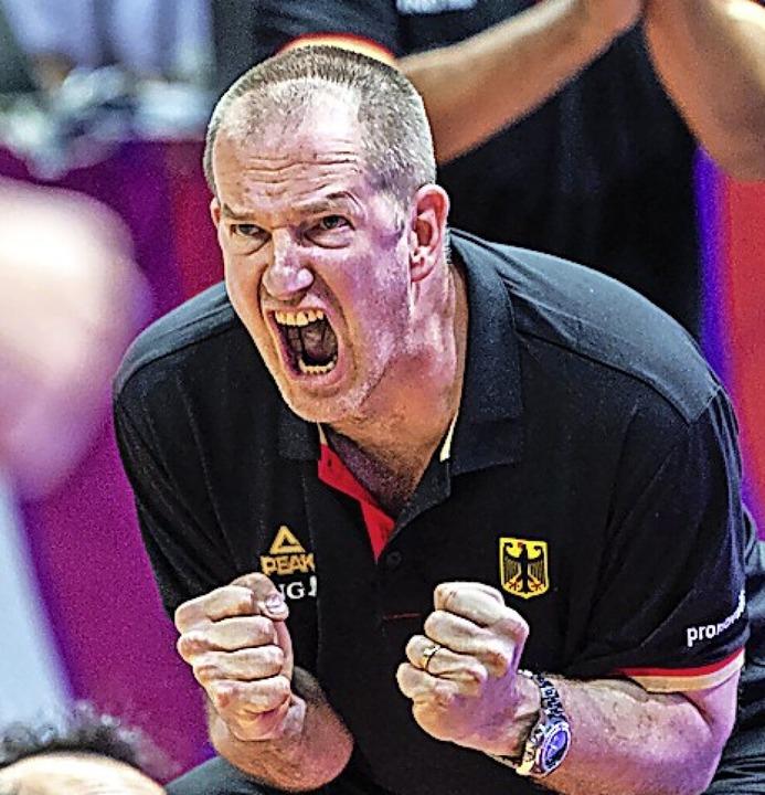 Henrik Rödl, hier bei  der Olympia-Qualifikation  | Foto: Tilo Wiedensohler (dpa)