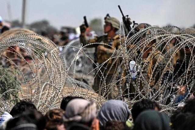 Verzweiflung am Flughafen von Kabul