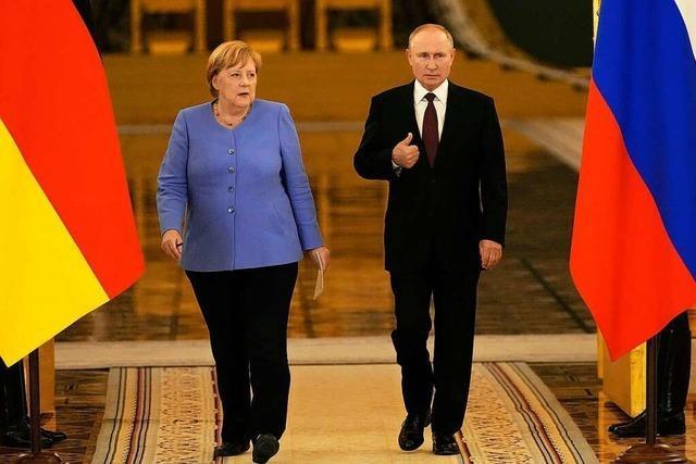 Merkel steht nach Besuch bei Putin wieder mal mit leeren Händen da