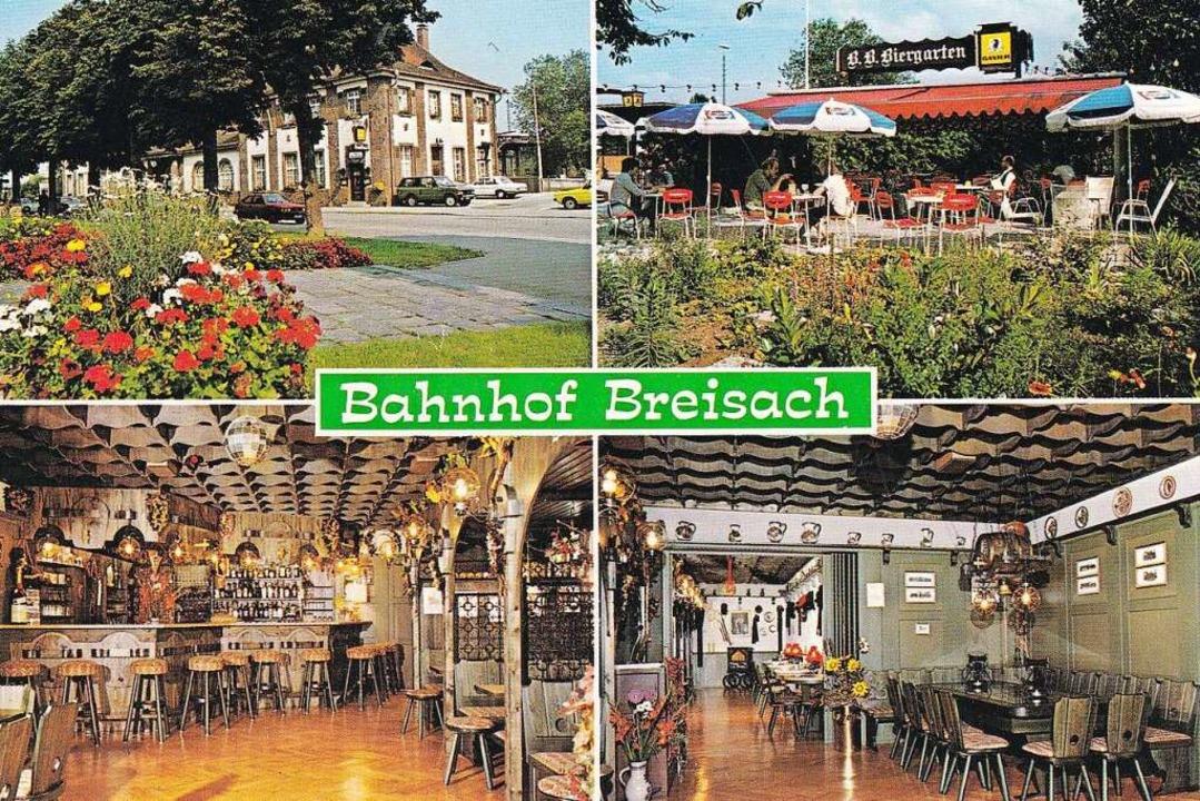 Auf einer Postkarte aus den 1980er Jah...hofsgaststätte, nun ja, eher rustikal.    Foto: Stadt Breisach