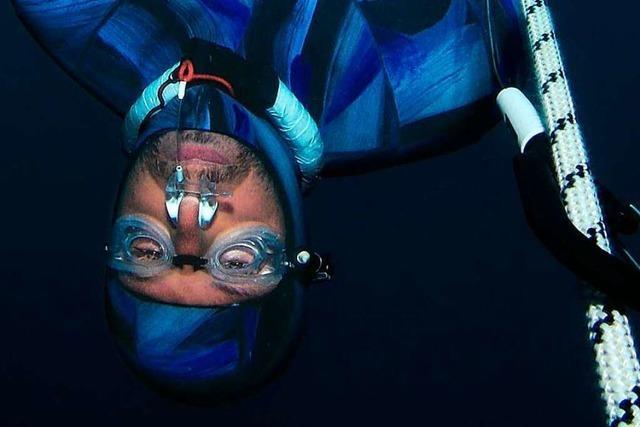 Dieser Bleichheimer will den Deutschen Rekord im Tieftauchen ohne Sauerstoff