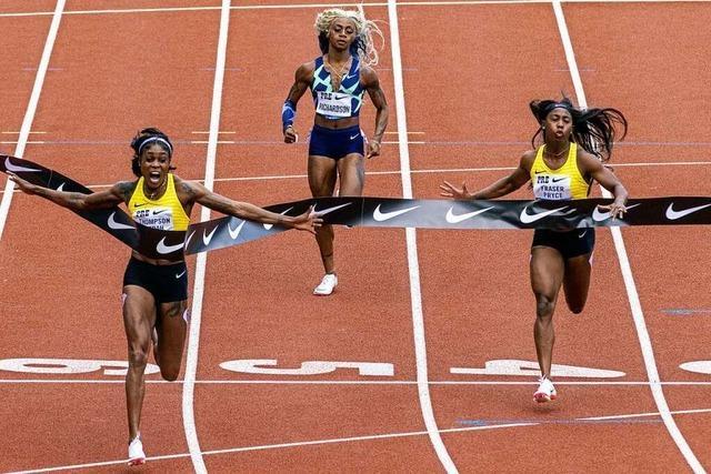 Es fehlen nur fünf Hundertstel zum Fabel-Weltrekord von Griffith-Joyner