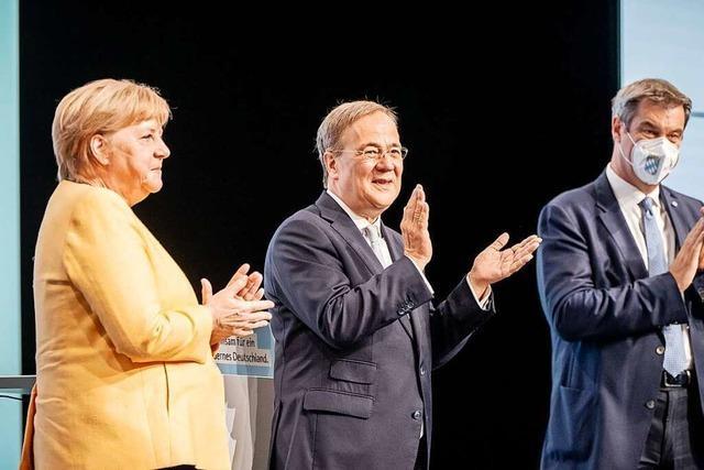 Im Wahlkampf stellt sich die Union auf ein Duell mit der SPD ein