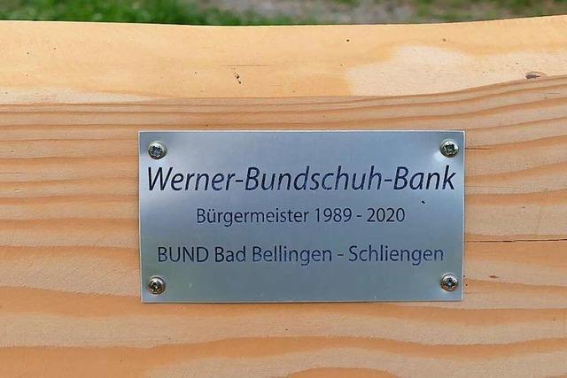 Die Werner-Bundschuh-Bank ist weg