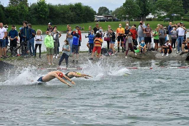 Große Solidarität beim 30. Breisgau-Triathlon in Malterdingen
