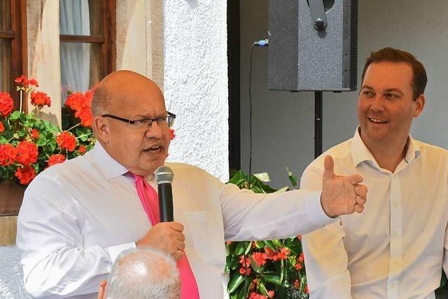 Peter Altmaier in Kirchzarten: Unterstützung für Felix Schreiner im Wahlkampf