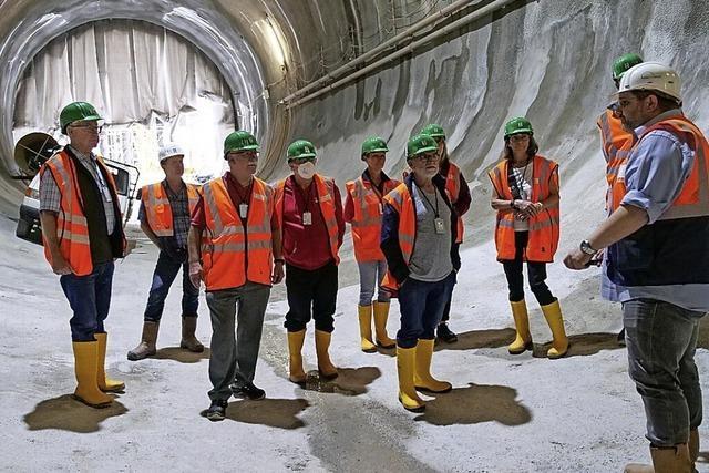 Einblicke in den Tunnelbau