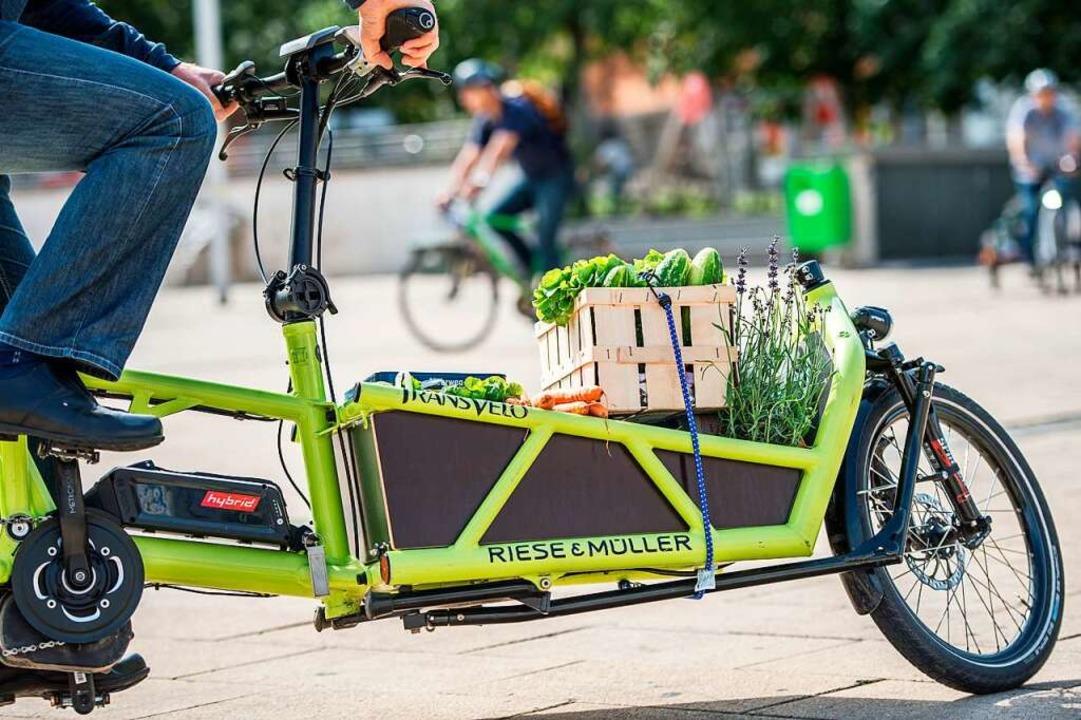 Ziemlich beliebt: das Lastenrad  | Foto: Wolfram Kastl