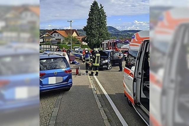 Unfall mit drei Verletzten