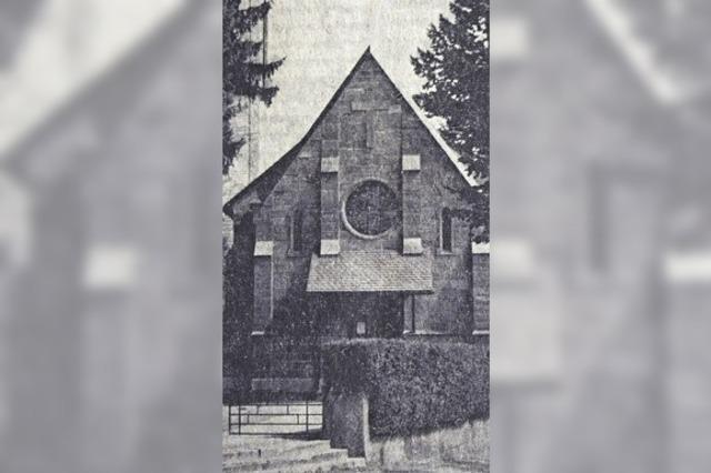 Der erste Gottesdienst fand im Rathaus statt