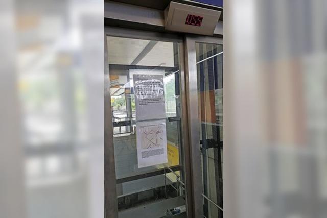 Aufzug am Bahnhof weiter außer Betrieb