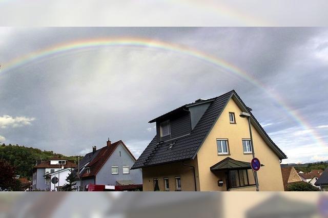 Regenbogen ohne einen Tropfen Regen
