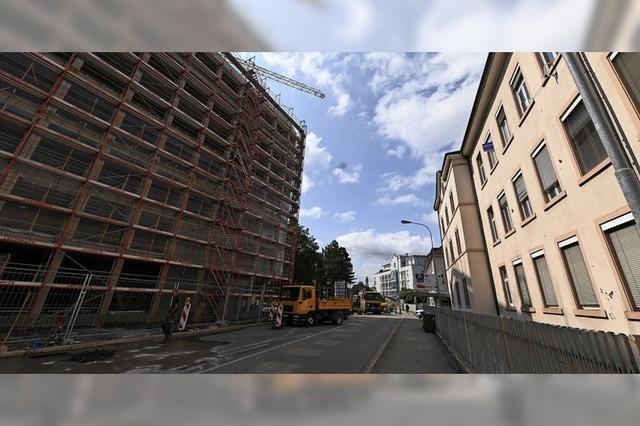 Häuserschlucht in Lörrach