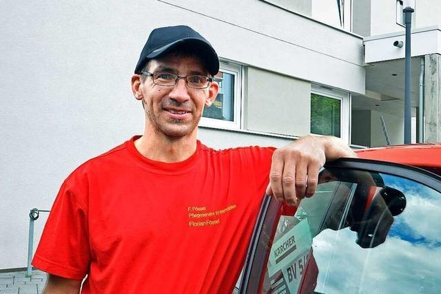 Für den Freiburger Florian Fössel beginnt die Arbeit an der eigenen Wohnungstür