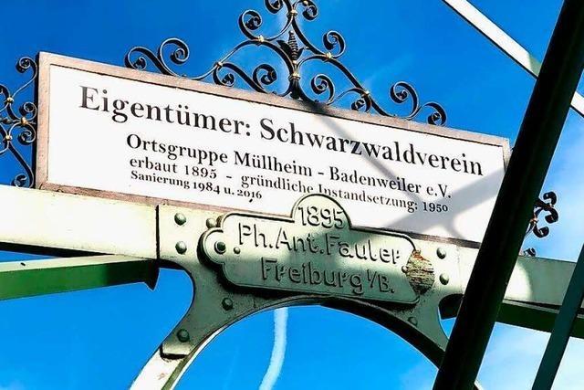 Der Blauenturm auf dem Markgräfler Hausberg feiert Geburtstag