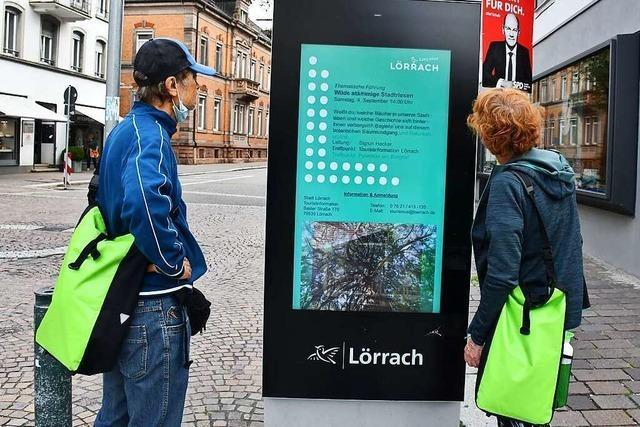 Touristen machen in Lörrach nicht nur auf der Durchreise Halt