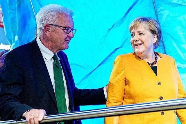 Kretschmann lobt Bundeskanzlerin Merkel: