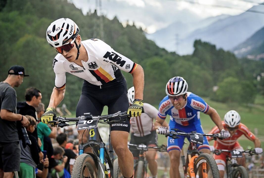 Furios vorneweg: Max Brandl auf dem We... im Shorttrack-Rennen von Val di Sole   | Foto: Lynn Sigel