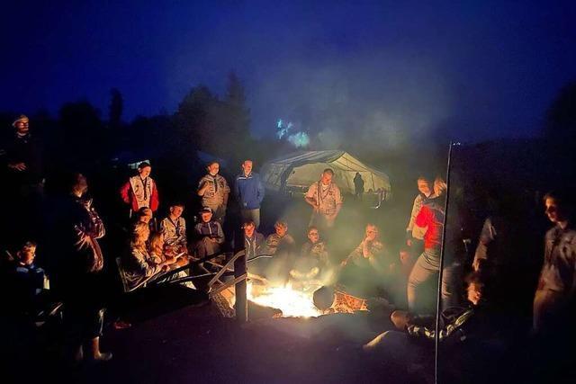 50 Pfadfinder aus Brombach treffen sich zum Zeltlager unter Pandemiebedingungen