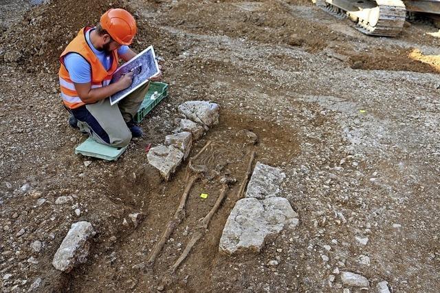 Skelett aus dem 8. Jahrhundert entdeckt