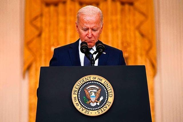 Bidens bitterste Stunde: Afghanistan-Desaster schwächt US-Präsident
